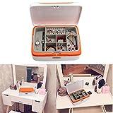 Joyero grande, Evertop Joyero organizador con cerradura de combinación y compartimentos for Reloj/...
