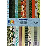A4 Craft Papers Bird Songs - (CPPS12) - 23 Pattern Designs 46 Sheets
