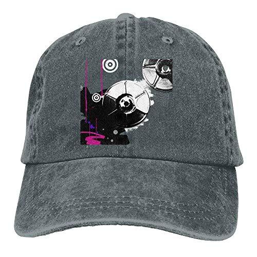 djdjdfgh Music Vinyl Turntable Denim Baseball Caps Hat Adjustable Sport Strap Cap -