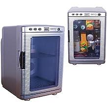 Acampar mini refrigerador, minibar, nevera, nevera para bebidas, viajes, refrigerador con freezer hotel y sin (nevera 20L)