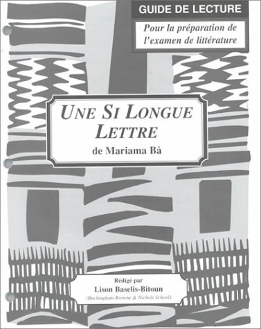 Une Si Longue Lettre Study Guide For French Literature By Stephen C Clem 2000 01 01 [Pdf/ePub] eBook