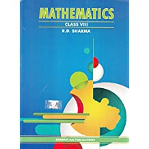 Mathematics For Class 8 by R D Sharma (2018-19 Session)