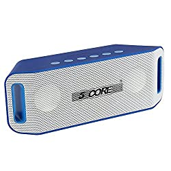 5 Core Portable Wireless Rechargeable Personal Speaker System with Hands-free Bluetooth Speakerphone, USB, TF, SD Card and Aux, Headphones input, Highly-compatible with Bluetooth-enabled digital devices