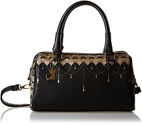 Lollipops Ysis 22290, Borsa bowling donna , Nero (Black (nero)), Taille Unique