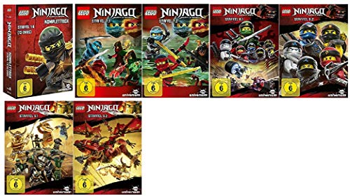 Lego Ninjago Staffel 1-9 (1-6 Box + 7.1+7.2+8.1+8.2+9.1+9.2) [DVD Set]