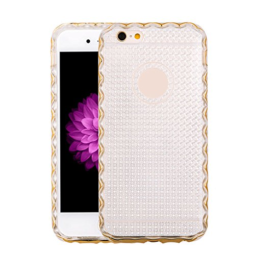Cuitan 2 in 1 Housse Case pour Apple iPhone 6 plus / 6S plus (5.5 Inch), TPU Doux Inner Case et PC Difficile Frame Bumper Durable Protecteur Etui Case Transparent Back Cover Housse Shell pour iPhone 6 Or