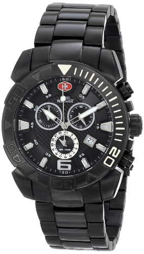 Swiss Precimax Men's SP13121 Recon Pro Analog Display Swiss Quartz Black Watch