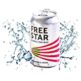 Freestar Award Winning Great Tasting GF Alcohol Free Beer, 330ml x 4 cans