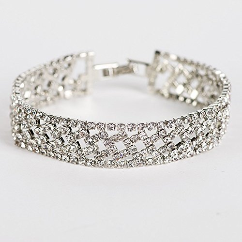 HRHxue Bracelet argent femme multi-tour manuel printemps tempérament élégant, minimaliste et polyvalent peut être