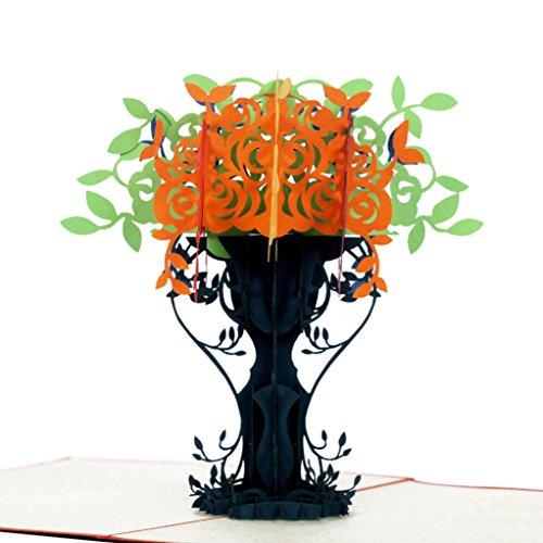 Vase Blume 3D Pop up Grußkarten, Blumenstrauß Blume mit Charming Details, perfekt handgefertigt Geschenke für ihre Liebhaber, Valentinstag, Hochzeit Tag oder jeden Anlass ()