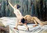 POSTERLOUNGE Wood print 170 x 120 cm: Samson and Delilah by Max Liebermann