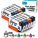 Smart Ink Compatible Cartouche d'encre de Remplacement pour Canon PGI 570 XL 570XL CLI 571 XL 571XL 10 Pack(2 PGBK & 2 BK/C/M/Y) pour PIXMA MG5750 5751 6850 6853 7750 TS5050 5055 6050 6052 9050 9055