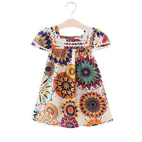 Fashion Girls Dress European And American Style Broken Flower Brand Baby Girls Dress 2018 New Arrive Summer Girls Dress (Girls Little Club Flower)