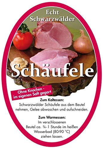 Schwarzwälder Schäufele im Kochbeutel (800 gr.) – Ohne Knochen, im eigenen Saft gegart – muss nur noch