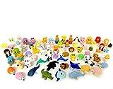German Trendseller® - 12 x gomme les petits animaux ┃ en forme d'animaux ┃ petits cadeaux ┃ l'anniversaire d'enfant ┃zoo gommes