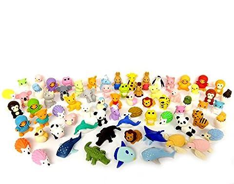 German Trendseller® - 6 x gomme les petits animaux ┃ en forme d'animaux ┃ petits cadeaux ┃ l'anniversaire d'enfant ┃zoo gommes