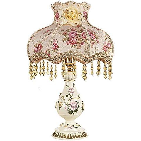 Continental idilliaco creativo regali di nozze principessa tessuti decorativi camera da letto lampade da comodino oscurare il Photoframe , Kim pila di elezioni per il Photo Frame + , non appena la lampada l
