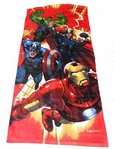 Jungen, offizielles Marvel Avengers Comic, 100% Baumwolle-Strandtuch, bedruckt