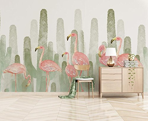 Papel Pintado De Alta Calidad Del Mural 3D Papel Pintado De Flamenco