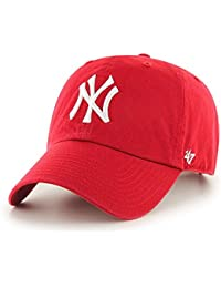 '47 adultos Tapa MLB New York Yankees Clean Up, unisex, Kappe MLB New York Yankees Clean Up, rojo, Talla única