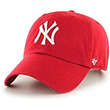 '47adultos Tapa MLB New York Yankees Clean Up, unisex, Kappe MLB New York Yankees Clean Up, rojo, Talla única
