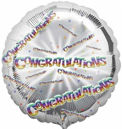 Amscan Gratulation Kreis Folie Ballon HS40 (Anagramm Halloween Ballons)