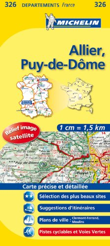 ALLIER / PUY - DE - DOME 11326 CARTE ' LOCAL ' ( France ) MICHELIN KAART (KAARTEN/CARTES MICHELIN)