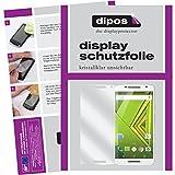 dipos I 6X Schutzfolie klar passend für Motorola Moto X Play Folie Displayschutzfolie