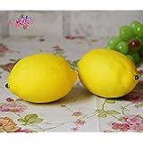 Vale® 6 piezas de fruta artificial amarillo limón Decoración de la fruta de la falsificación de House Party Cocina