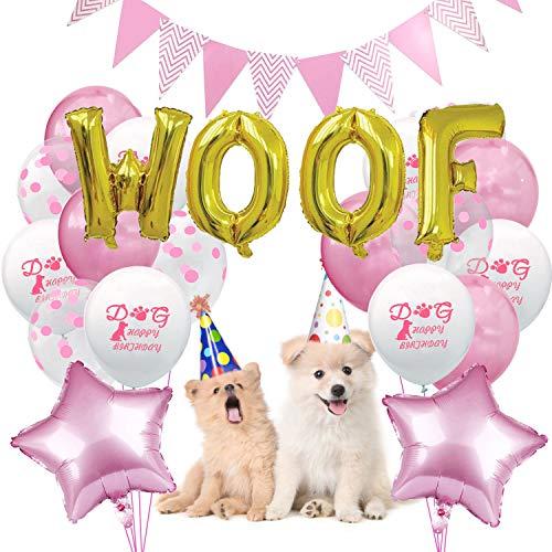 stag Set, Hunde Geburtstag Deko, Happy Birthday Ballons, Set Geburtstag Dekoration Zubehör ()