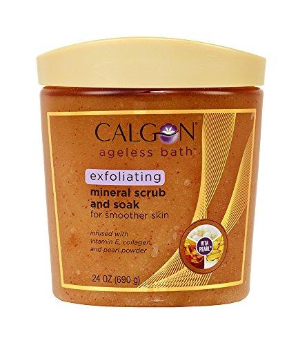 Mineral Soak (Calgon Ageless Bath Series Exfoliating Mineral Scrub and Soak (24 Ounce) by Calgon Ageless Bath)