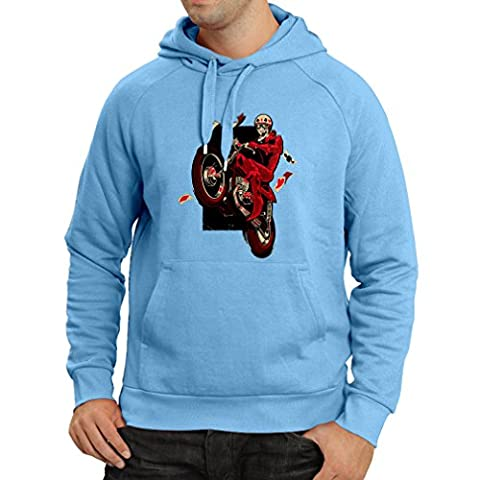 Kapuzenpullover Motorradbekleidung - Motorradfahrer T-shirt, Motorradzubehör - Vintage/Retro Design (Biker