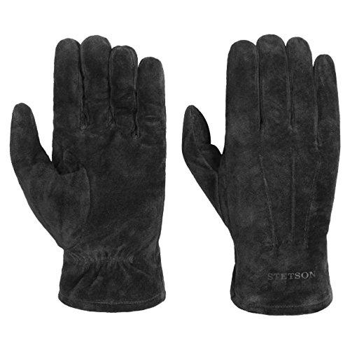 Stetson Basic Pigskin Lederhandschuhe Handschuhe Herrenhandschuhe Fingerhandschuhe Herrenhandschuhe Fingerhandschuhe (8 1/2 HS - schwarz) (Schweinsleder-mode)