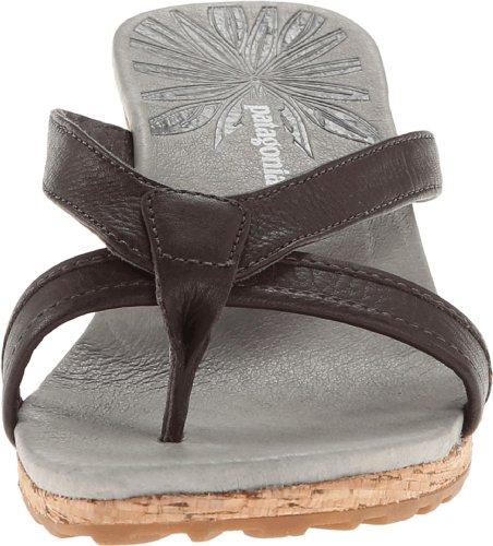 Patagonia Solimar Slide Cuir Sandales Compensés Sable Brown