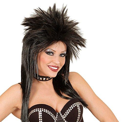 Perücke 80er Jahr schwarz (80er Jahre Musiker Kostüm)