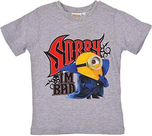 Minions Ich Einfach Unverbesserlich T-Shirt in Grau Gr. 116