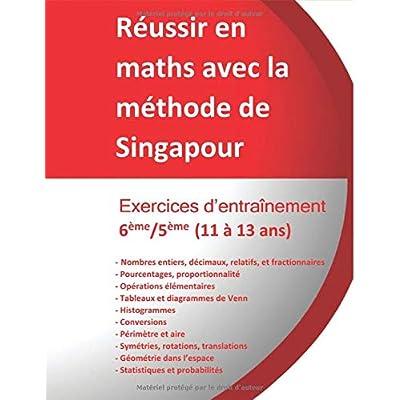 Exercices entraînement  6ème/5ème - Réussir en maths avec la méthode de Singapour: Réussir en maths avec la méthode de Singapour « du simple au complexe »