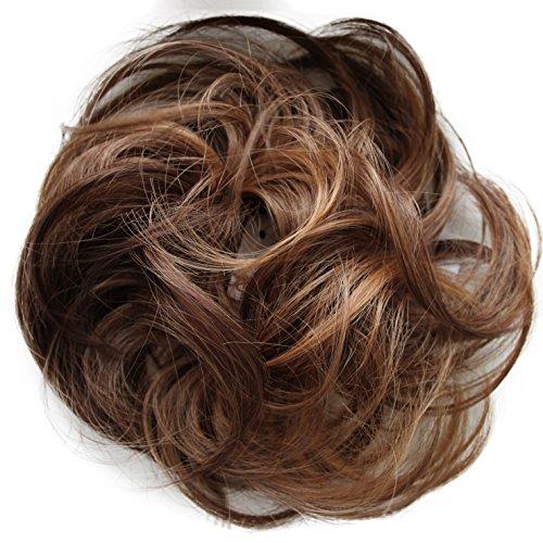 PRETTYSHOP queue de cheval postiche cheveux épaississement Chouchou updos fibre synthétique résistant à la chaleur brun mix # 30H26 G31B