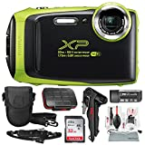 Fujifilm FinePix XP130 Waterproof & Shockproof Wi-Fi Digital Camera (Lime) with 32GB Card, Stable Tripod, Protective Camera Case, Xpix Cleaning Kit, w/Deluxe Bundle