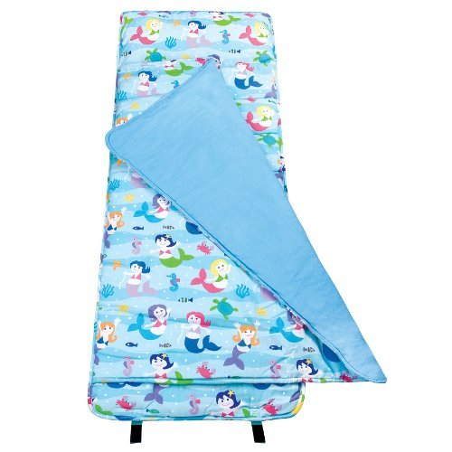 now-in-uk-wildkin-kids-nap-mat-slumber-bag-sleeping-bag-olive-kids-mermaids-by-wildkin