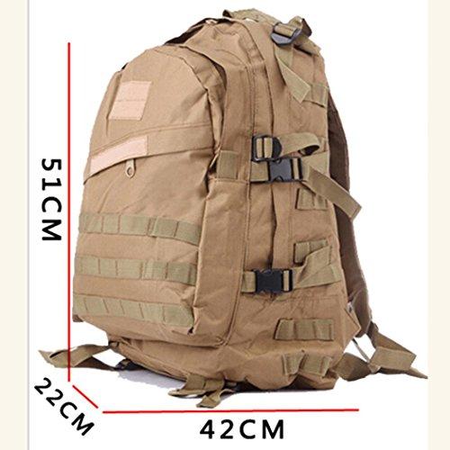 wasserdichte tarnung wandern rucksack leicht 3d verschleißfesten nylon - rucksack 36l-55l großer outdoor - camping klettern pack Khaki