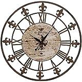 Aspire 1381336en. Reloj de pared de hierro forjado