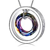 Wish Pendant Necklace Jewelry Made With Crystal Vitrail Medium Swarovski Crystals