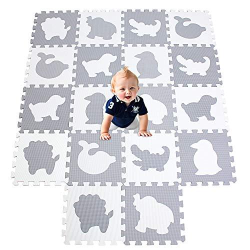 XMTMMD Life Soft Play Mats für Kinder Pure Colour EVA-Schaum Mats Spielmatte Ungiftig Krabbelmatte EVA-Schaum Bodenbelag jiasaw Matte Stylische Puzzlematte für Babys 18PCS AMP051G301018BH