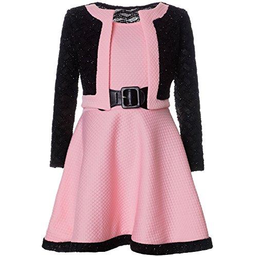 BEZLIT Mädchen Spitze Winter Kleid Langarm 21644, Farbe:Rosa, Größe:164