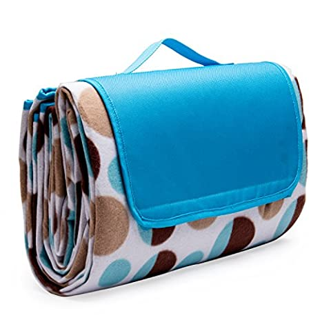 XiYoYo Picnic Blanket Outdoor Easy To Fold and Portable Beach Mat with Handle Strap Water-Resistant and Sand Proof Extra Large 79x59 inches