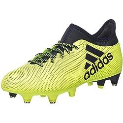 adidas X 17.3 SG, Chaussures de Football Entrainement Homme, Multicolore (Solar Yellow Legend Ink), 39 1/3 EU