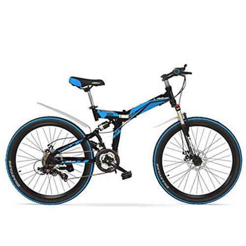 511xxZyT8GL. SS500  - LANKELEISI K660M 24/26 inch Folding MTB Bike,21 Speed folding bicycle,Lockable Fork,Front & Rear Suspension,Both Disc Brake, Mountain Bike