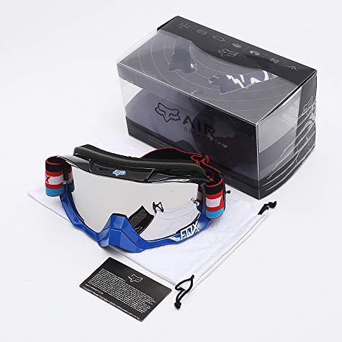 Ritterausrüstung Offroad-Brille Reiten im Freien Anti-Fog-Nase Designer schwarz und blau