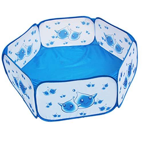 T TOOYFUL Baby Kleinkind Laufstall Große Blaue Bällebad Kinder Indoor / Outdoor Spielzelt (Indoor-bällebad Für Kleinkinder)
